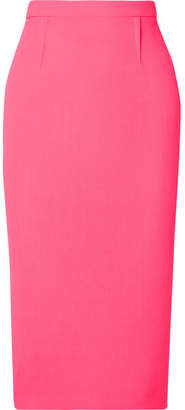 Roland Mouret Arreton Wool-crepe Pencil Skirt - Pink