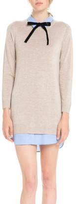 ENGLISH FACTORY Bow Detail Sweater Dress