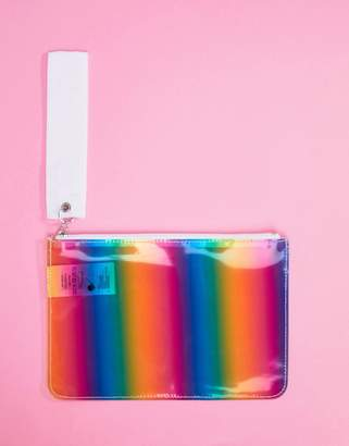 Monki rainbow zip pouch