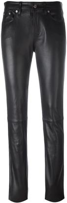 Calvin Klein Jeans skinny leather trousers $611.35 thestylecure.com