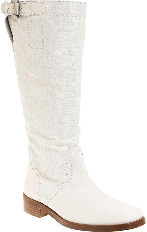 Jil Sander Soft Motorcycle Boot - White