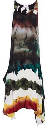 Acne Studios Asymmetric Printed Crepe Midi Dress