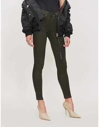 Good American Good Legs Waxed coated high-rise skinny jeans