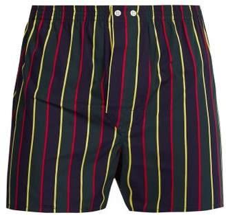 Derek Rose Regimental Stripe Cotton Boxer Shorts - Mens - Multi