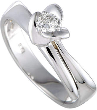 Damiani 18K 0.18 Ct. Tw. Diamond Ring