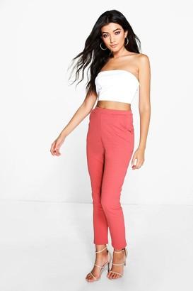 boohoo Crepe Super Stretch Skinny Trousers