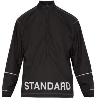 United Standard - Logo Print Technical High Neck Top - Mens - Black White