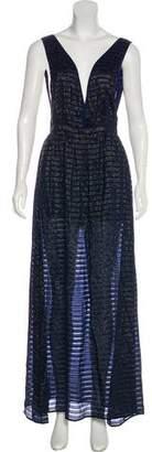 Fleur Du Mal Silk-Blend Maxi Dress w/ Tags