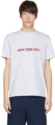 A.P.C. Grey New York T-Shirt