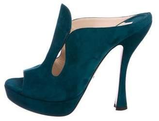 Prada Platform Slide Sandals
