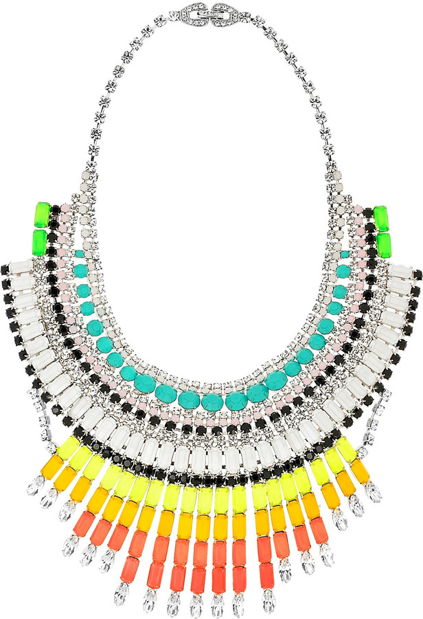 Tom Binns Ethno Teknik hand-painted Swarovski crystal necklace