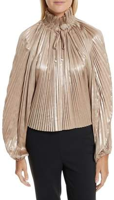 Opening Ceremony Foil Pleated Top