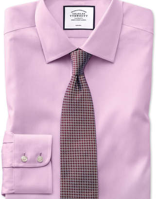 Charles Tyrwhitt Slim fit non-iron pinpoint Oxford pink shirt