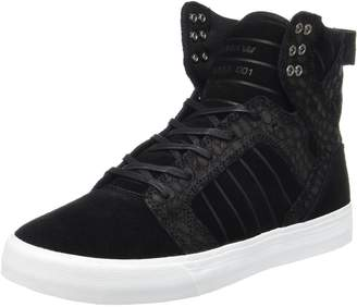 Supra Skytop Mens Black Suede High Top Lace up Sneakers Shoes 10