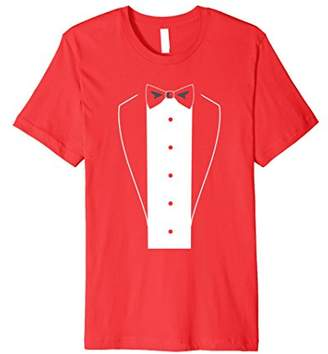 Tuxedo With Bow-tie Suit T-Shirt