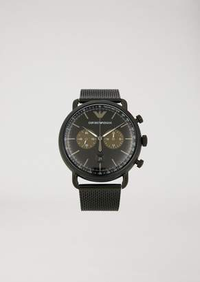 Emporio Armani Stainless Steel Chronograph With Tachymeter Dial