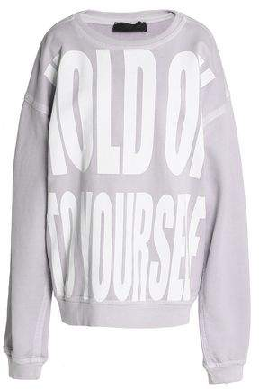Oversized Printed Cotton-Terry Sweatshirt