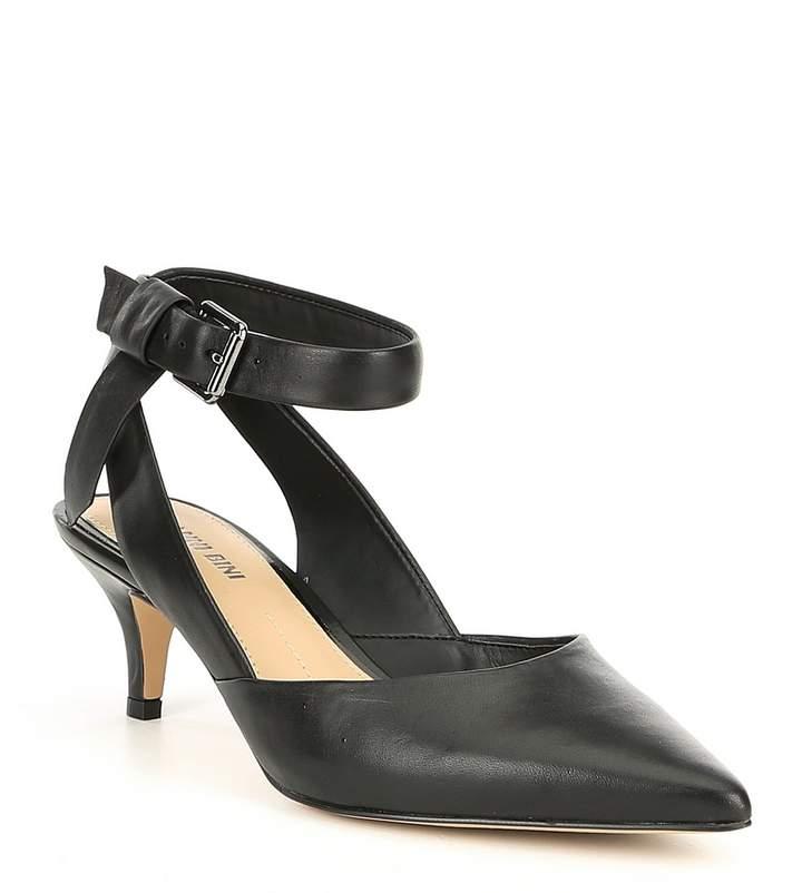 Gianni Bini Rizbee Leather Ankle Tie Sling Pumps
