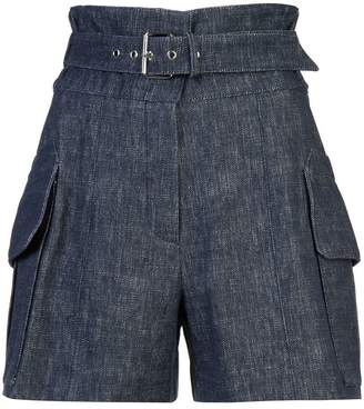 Derek Lam Belted Short With Patch Pockets