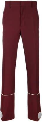 Calvin Klein high-waisted stripe detail trousers