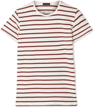 ATM Anthony Thomas Melillo Striped Stretch-pima Cotton-jersey T-shirt - Brown