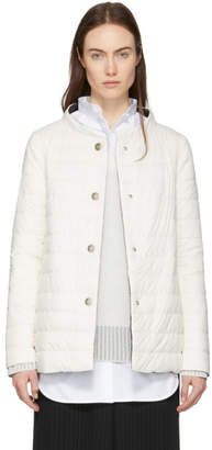 Herno Reversible Down White and Black A-Line Jacket