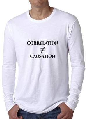 Hollywood Thread Correlation Does Not Equal Causation - Science Humor Men's Long Sleeve T-Shirt