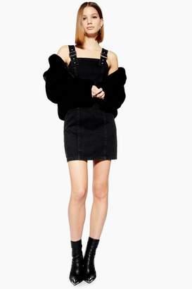 Topshop Buckle Strap Denim Dress