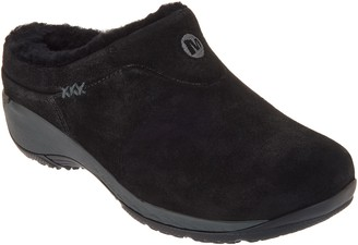 Merrell Suede Plush Lined Slip-On Clogs - Encore Ice Q2