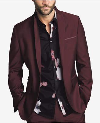 INC International Concepts I.n.c. Men Slim-Fit Burgundy Blazer