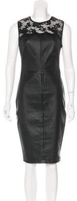 Robert Rodriguez Sleeveless Leather Dress