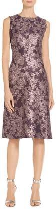 St. John Textured Floral Jacquard Dress