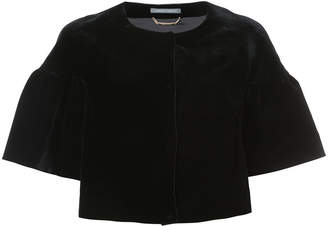 Alberta Ferretti wide-sleeve cropped jacket