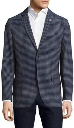 Ben Sherman Men's Gingham Seer Notch Lapel Sportcoat