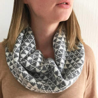 Little Knitted Stars Ladies Knitted Lambswool Snood With Geometric Triangles