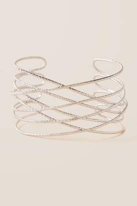 francesca's Harlow Metal Cuff - Silver