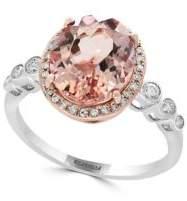Effy Diamond, Morganite and 14K Rose and White Gold Statement Ring