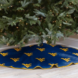 West Virginia Mountaineers 52-Inch Christmas Tree Skirt