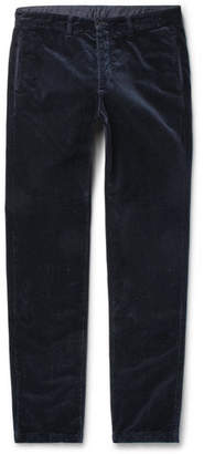 Massimo Alba Winch Slim-fit Cotton-velvet Trousers - Blue