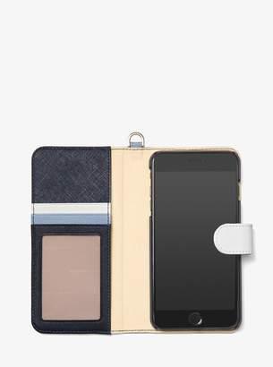 MICHAEL Michael Kors Color-Block Saffiano Leather Folio Case for iPhone 7/8 Plus