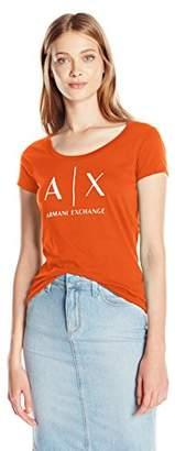 Armani Exchange A X Women's Core Logo Scoop Neck Tee