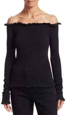 Altuzarra Tradewinds Off-Shoulder Top