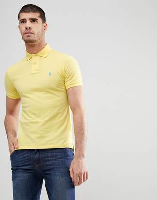 Polo Ralph Lauren Slim Fit Pique Polo In Light Yellow