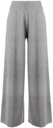 Pringle knitted flared trousers