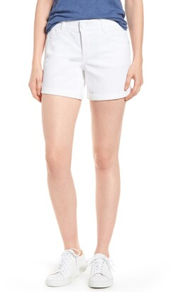 Wit & Wisdom Ab-solution Cuffed White Shorts