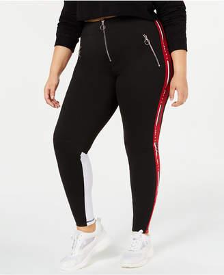 Anthony Logistics For Men La La Trendy Plus Size Logo-Stripe Leggings