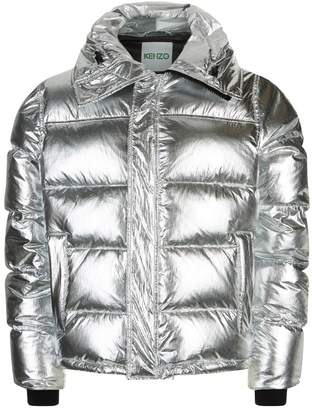 Kenzo Metallic Puffer Hooded Jacket