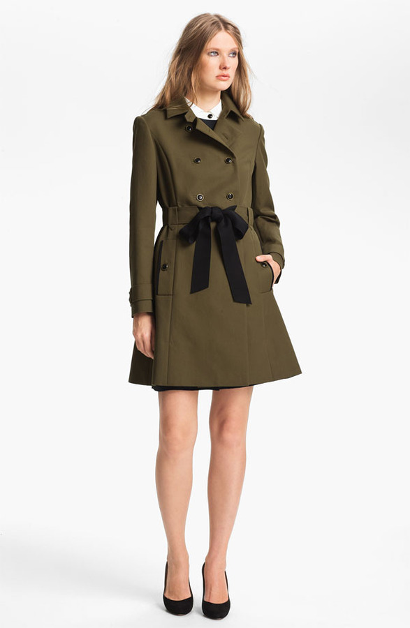 Nordstrom Miss Wu Belted Cotton Trench Coat Exclusive) 10