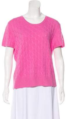Saks Fifth Avenue Cashmere Short Sleeve Top