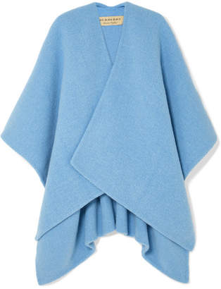 Burberry Embroidered Knitted Poncho - Blue
